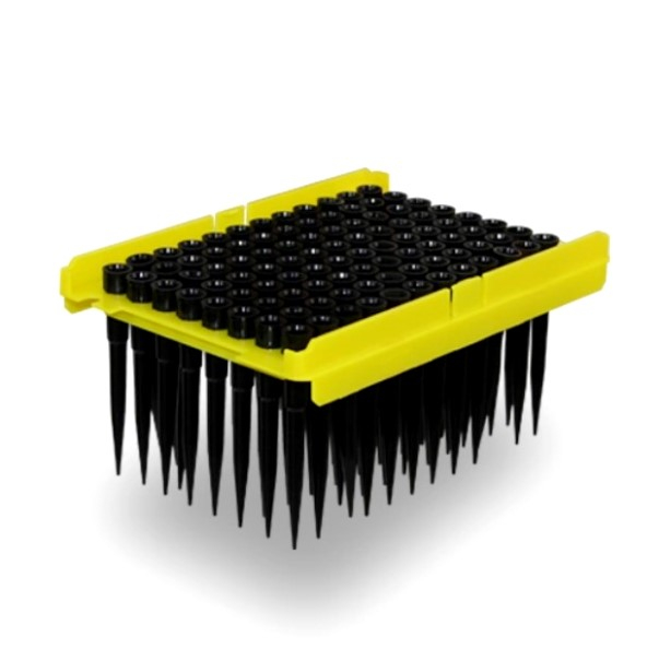 Стерильные черные электропроводные наконечники для станций тип Tecan 200 мкл (96х2 шт/уп)